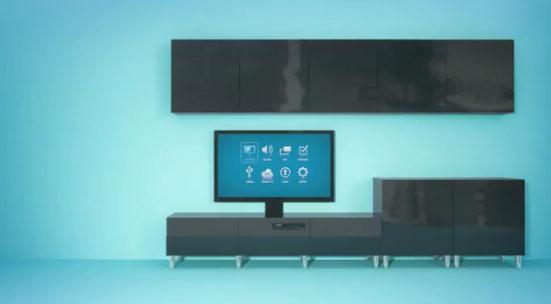 uppleva la gamme de meubles de salon combin s meuble t l vision. Black Bedroom Furniture Sets. Home Design Ideas