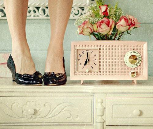 radio réveil vintage