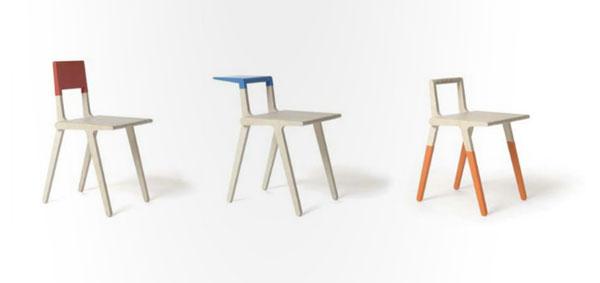 Chaises design en bois couleur