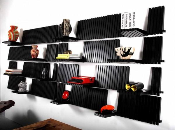 Etagères piano (piano shelf) par le designer Sebastian Errazuriz