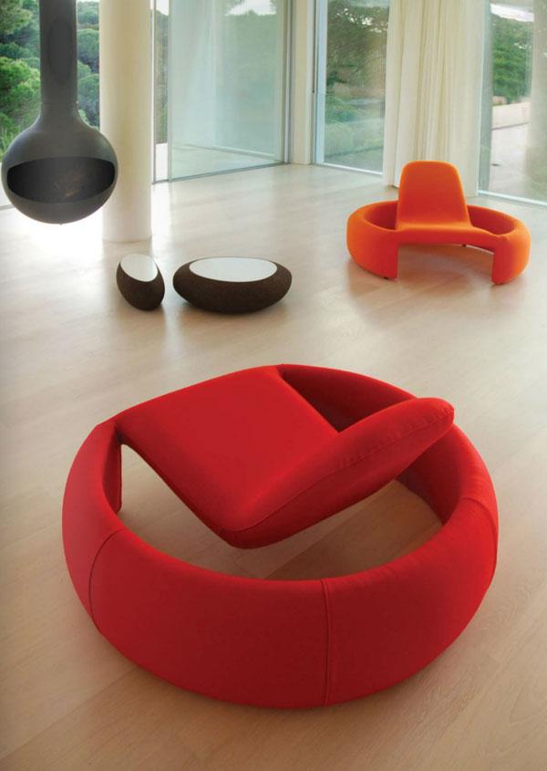 fauteuil design en tissu