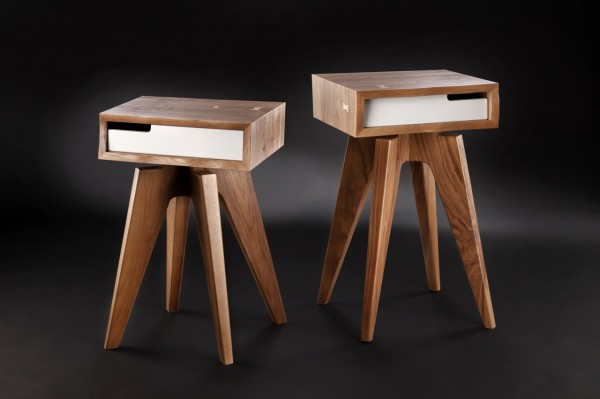 tables de chevets en bois