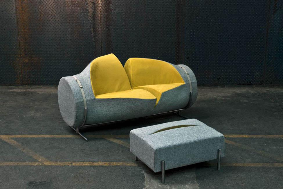 Canapé Et Pouf Slashed Par Charlotte Kingsnorth - Canape tres design