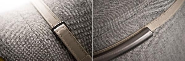 Canapé Slashed par le designer Charlotte Kingsnorth - détails