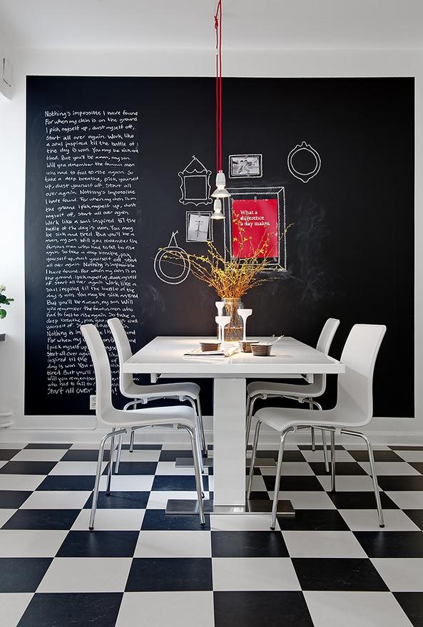 Des exemples de cuisines pour vous inspirer for Tableau noir pour cuisine