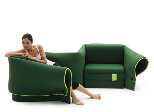 Canapé à partager avec Megan Fox qui fait aussi fauteuils