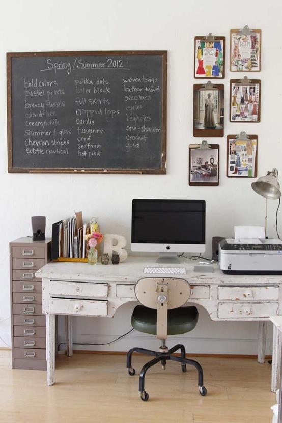 Un bureau style vintage