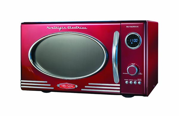 Four micro-ondes Oven Retro Serie rouge