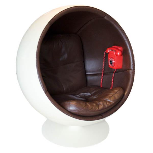fauteuil cuir ball chair 1963