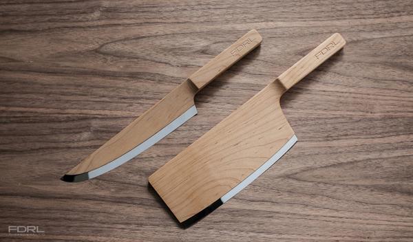 couteaux bois et acier
