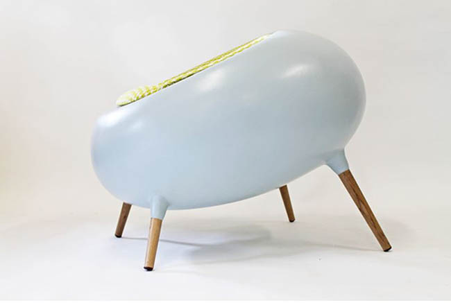 Fauteuil design Acari blanc