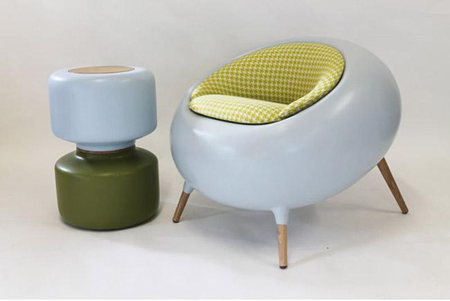 Fauteuil design Acari vert