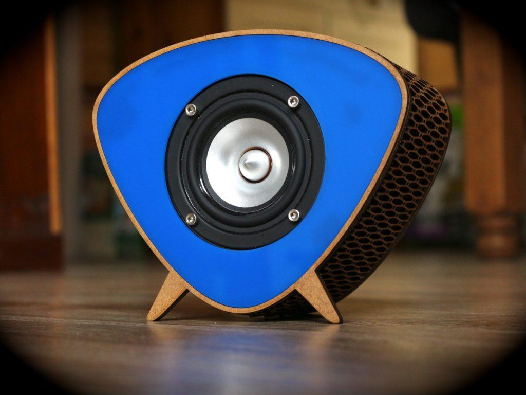 Enceintes bois bluetooth design rétro vintage