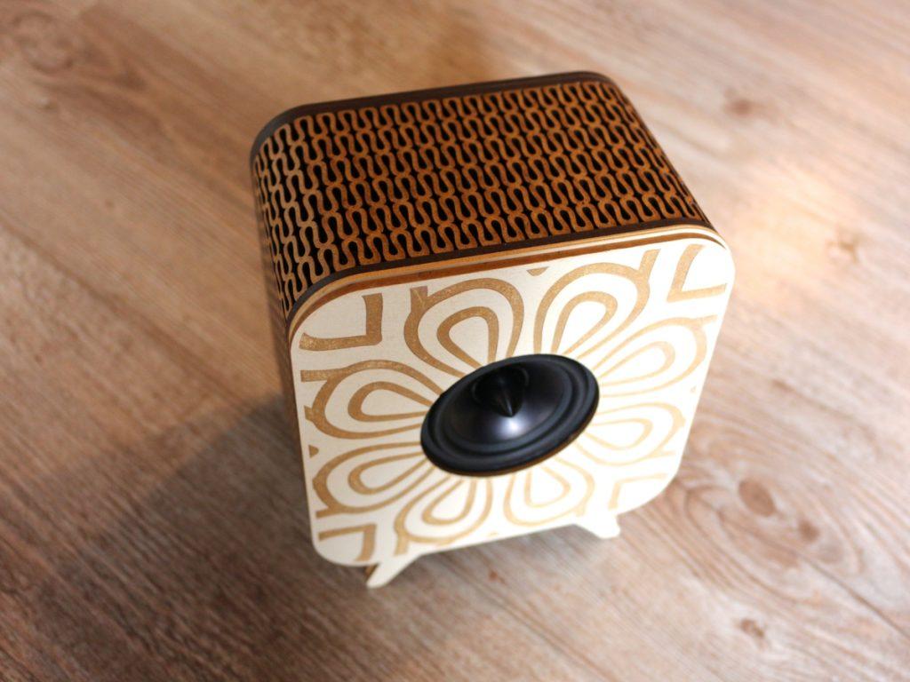 Enceintes bois bluetooth design
